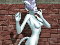 picture #1 ::: Pale skinned demon hottie shows her amazing body