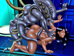 picture #3 ::: Kinky girls get nailed by horny monsters