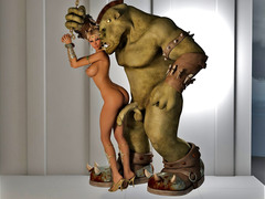 picture #3 ::: Blonde cutie gets mouthfucked by minotaurs