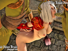 picture #6 ::: Elf cutie captured by two horny orcs