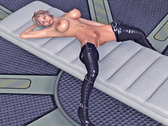 picture #2 ::: Busty hottie in boots enjoys a giant alien cock