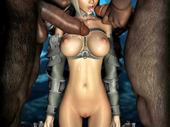 picture #2 ::: Hot babes get violated with monster cocks