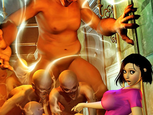 picture #2 ::: Awesome 3d pic galleries showing cute sluts dominated by ugly monsters.
