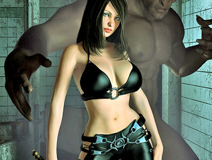 picture #5 ::: Awesome 3d pic galleries showing cute sluts dominated by ugly monsters.