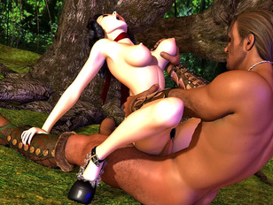picture #6 ::: Enormous black creature can't take his pink cock out of her pussy