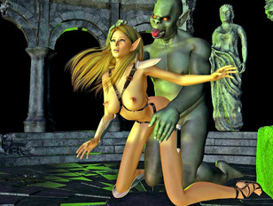 picture #1 ::: Amazing monster cartoon sex featuring pretty young chicks fucked by ugly monsters.