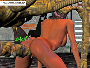 picture #4 ::: Amazing monster cartoon sex featuring pretty young chicks fucked by ugly monsters.