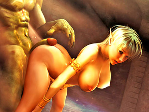 picture #3 ::: Sexy rape sex cartoon featuring poor girls molested by a demonic sex god.