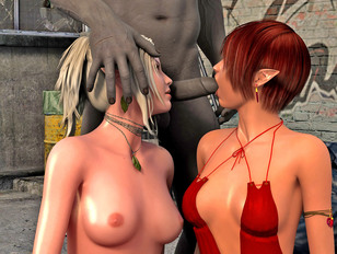 picture #5 ::: gorgeous brunette can't get enough of sex with monsters