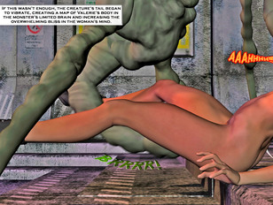 picture #5 ::: Kinky 3d fantasy gallery showing a horrible monster raping a poor defenseless girl.