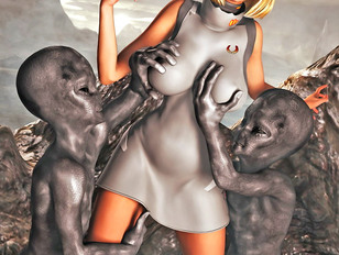 picture #6 ::: Kinky toon sex gallery showing tight babes fucked hard by a fearsome monster.