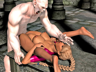 picture #2 ::: The amazing world of porncraft gallery shows cute elves raped by savage orcs.