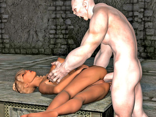 picture #3 ::: The amazing world of porncraft gallery shows cute elves raped by savage orcs.