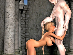 picture #5 ::: The amazing world of porncraft gallery shows cute elves raped by savage orcs.