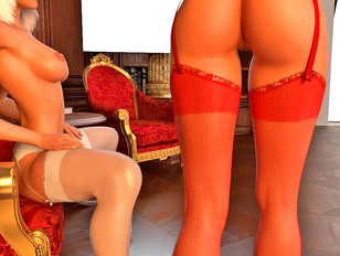 picture #3 ::: Brutal 3d gallery of kinky babes having sex with a huge scaly dragon.