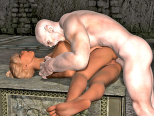 picture #4 ::: Awesome fantasy 3d gallery showing hardcore sex between a cute elf and an evil troll.