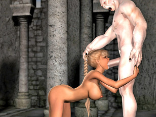 picture #5 ::: Awesome fantasy 3d gallery showing hardcore sex between a cute elf and an evil troll.