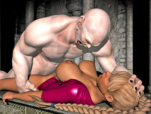 picture #1 ::: Hot blonde is destroyed by a screaming retarded man