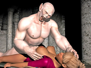picture #3 ::: Hot blonde is destroyed by a screaming retarded man