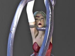 picture #1 ::: Bizarre 3d gallery shows a brutal demon rape an innocent girl.