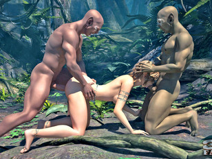 picture #2 ::: Young warrior princess gets fucked hard in this kinky 3d porn.