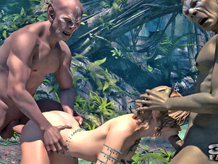 picture #3 ::: Young warrior princess gets fucked hard in this kinky 3d porn.