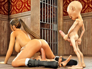 picture #11 ::: Bizarre animation porn showing a strong monster fuck a young slut.