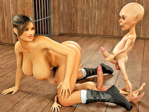 picture #12 ::: Bizarre animation porn showing a strong monster fuck a young slut.