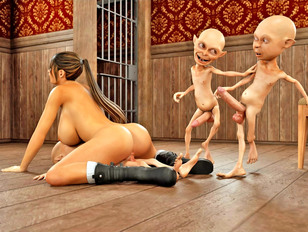 picture #10 ::: Bizarre animation porn showing a strong monster fuck a young slut.