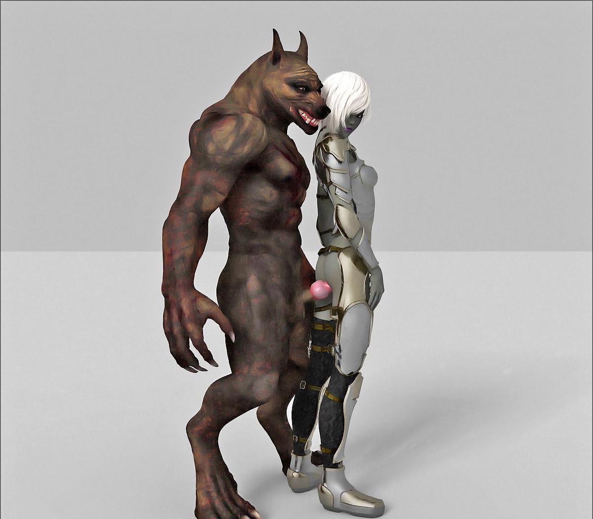 Monster 3d porno