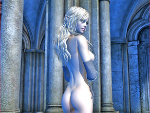 picture #10 ::: toonxxx with gorgeous blonde elf showing off her body