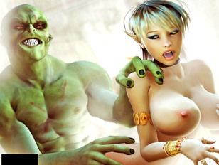 picture #1 ::: anime elf sex where blonde cutie is fucked from behind
