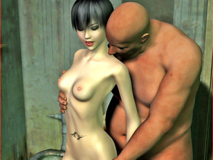 picture #2 ::: Forced to suck monster cock till he jizz her mouth is full