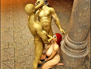 picture #5 ::: Free 3d monsterporn showing a lovely young girl fucked by savage ogres.