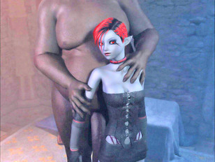 picture #4 ::: Foxy 3D tomb raider stripping and showing off her hot body