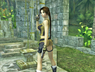 picture #6 ::: Foxy 3D tomb raider stripping and showing off her hot body