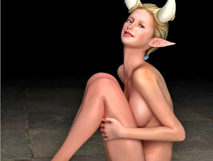 picture #4 ::: Bizarre 3d gallery showing a cute busty babe fucked hard by a fierce monster.