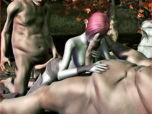 picture #2 ::: ogre porn where red-haired slut takes it from behind