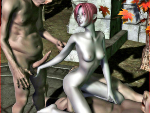 picture #6 ::: ogre porn where red-haired slut takes it from behind