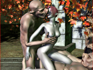 picture #7 ::: ogre porn where red-haired slut takes it from behind