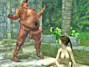 picture #6 ::: Perfectly shaped sweet chick giving deep throat to a rotting monster