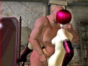 picture #4 ::: 3D blond elf hottie getting impaled on a huge troll cock