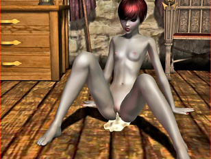 picture #8 ::: Young 3D elf girl riding dick and getting a cream pie