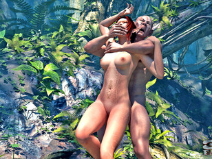 picture #1 ::: Foxy fantasy babes getting wildly raped in the jungle by freaks