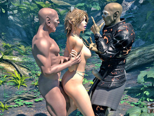 picture #11 ::: Foxy fantasy babes getting wildly raped in the jungle by freaks