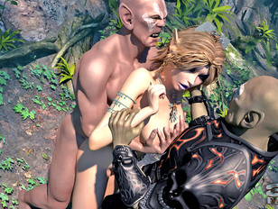 picture #12 ::: Foxy fantasy babes getting wildly raped in the jungle by freaks