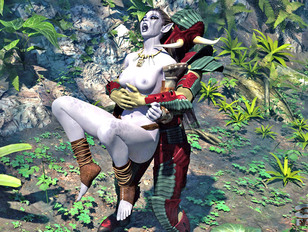 picture #4 ::: Foxy fantasy babes getting wildly raped in the jungle by freaks