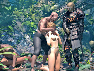 picture #10 ::: Foxy fantasy babes getting wildly raped in the jungle by freaks