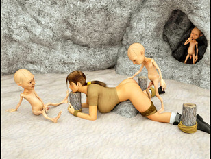 picture #2 ::: Wicked 3d porn pics showing a busty slut being tormented by little gnomes.