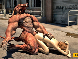 picture #2 ::: Innocent sexy 3D girls getting violated by monsters with massive dicks